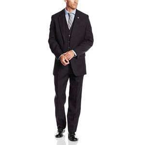 Stacy Adams Big & Tall Suny Vested 3-pc Suit